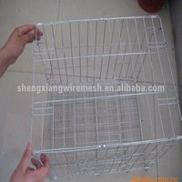 electro galvanized or pvc coated collapsible Pet Cage ISO14001