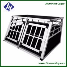 Economical Pet Travel Cage Aluminum Foldable Car Dog Cage