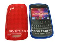 Protective Cell Phone Clear Rhomb TPU Gel Case Covers for BlackBerry Curve 9350/9360/9370