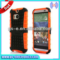 PC Silicone Hybrid Dual robot combo case for HTC M8