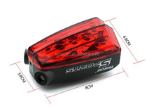 Bike Safety Red Rear Warning Light Cycling Safety Caution Lamp 2 Lasers + 5 LEDs Bicycle Laser Tail Light GPS Tracker