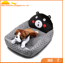 animal shaped comfortable plush boat pet dog bed