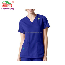 OEM Printed Comfortable Clinic Scrub Top