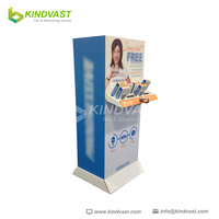 4 side cardboard floor display stand