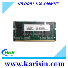 Full compatible best price notebook computer ram ddr1 1gb 400 with ETT original chips