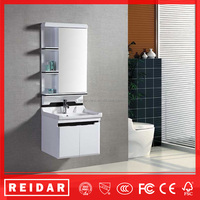 China cheap modern classic soft closer PVC wall-mounted bathroom vanity cabinet