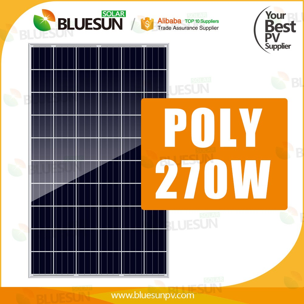 Easy installed cheap price 1000w solar panel poly for solar system with 270w