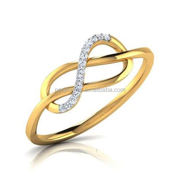 Infinite Love Pave AAA Cubic Zircon Promise Ring(PES6-1838)