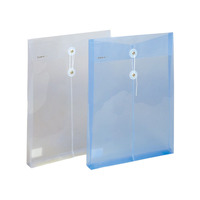 pp plastic document file holder a4 clear file envelope with button