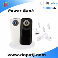Build-in Flash Light Portable External Mobile Power Bank promotion
