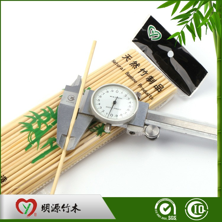 Custom bbq barbeque natural eco-friendly bamboo long 6 skewer
