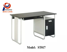 Hot sale Office modern steel frame with MDF top computer desk