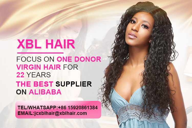 XBL Straight Wave Cuticle Aligned Virgin Human Hair Bundle, 2/3pcs Hair Bundles with Closure/ Frontal