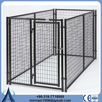 Cheap or galvanized comfortable outdoor dog kennel with roof