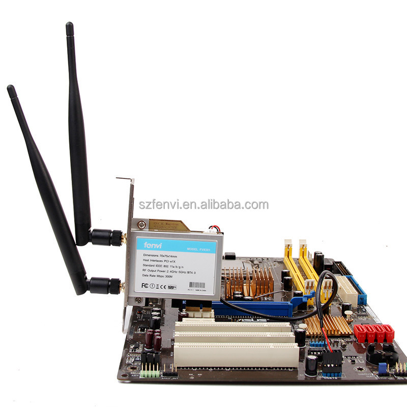 FV8301 INTRL6205 chips pc 300M wireless PCI Lan card 5G up to 300M with 2pcs of 6DBI antenna