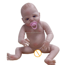 "Wholesale Factory Price Alive 18"" Soft SiliconeSilicone Reborn Baby Boy Dolls for Sale"
