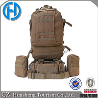 Large hiking military travel backpack outdoor combat bag