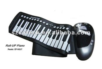 roll up piano ep-k61t, china victory roll up piano,flexible folding piano