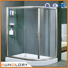 Tempered Glass Bathroom Shower Partitions