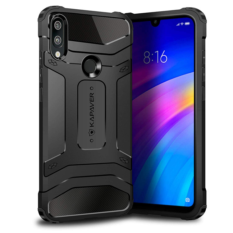 2019 KAPAVER For Xiaomi Redmi <strong>Y3</strong> Back Cover Case Carbon fiber anti-shock and shockproof