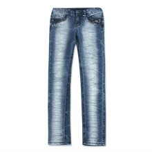 special washed effect woman jeans latest design tops girls new style jeans for lady 2012