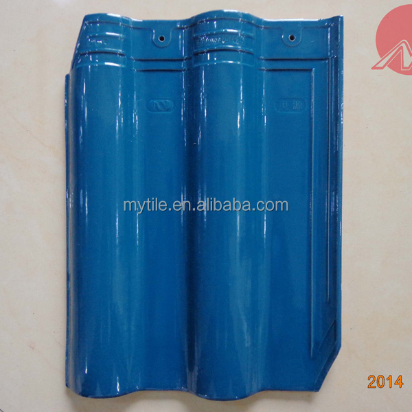peacock Blue glazed clay roof tiles