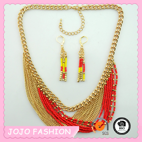 New Fashion Wholesale Charms Popular Heavy necklace and earring set