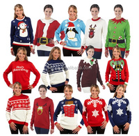 Christmas Sweater Wholesaler Womens Novelty Knitted Xmas Jumpers Sweater Top