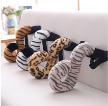 38cm Cute Simulation Plush Animals Tails Stuffed Creative Plush Tigers Leopard Tails Kids Adults Toys