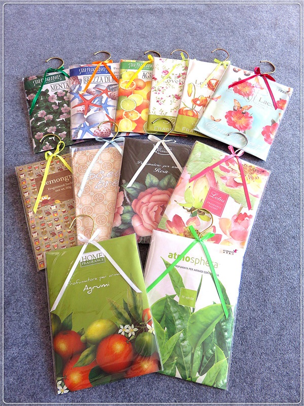 wholesale cheap price 20g scented sachet paper bag with different scents for air freshening