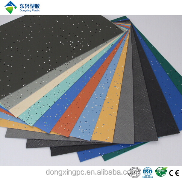 PVC vinyl form stable garage flooring