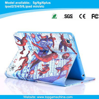 Spider-man series leather tablet case for ipad mini case