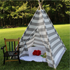 Commercial Kids Striped Canvas Camping Large Teepee Tent for sale