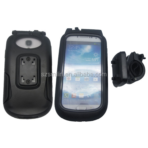 Super ant-shake&weather-resistant Bike Protective Case for Samsung S3/S4/i9500 with extra wide-angle lens