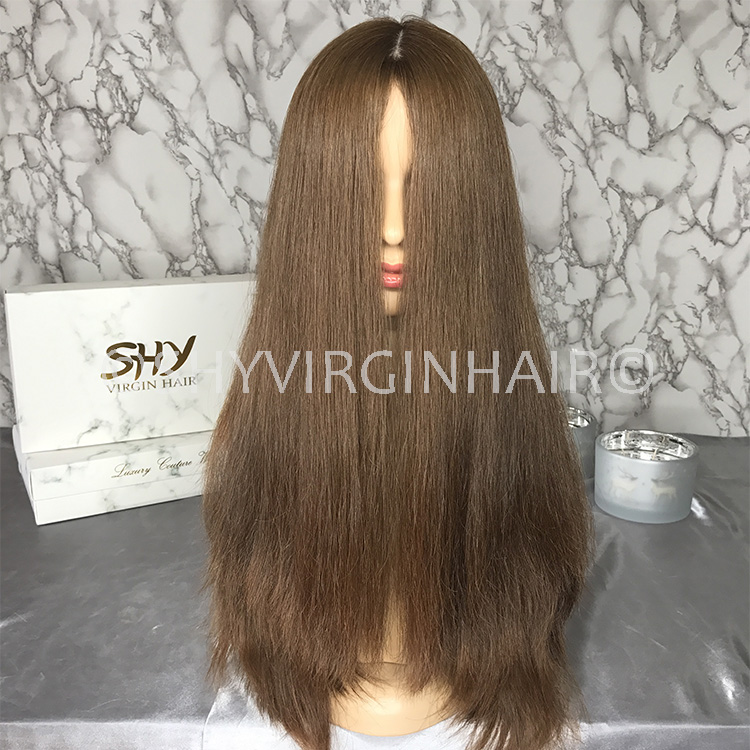 Wholesale European Jewish Kosher Wig Straight 180% Density Unprocessed Virgin Hair