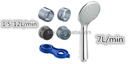 US style water saving shower head 1.5gpm 3 jet 3function high pressure shower head