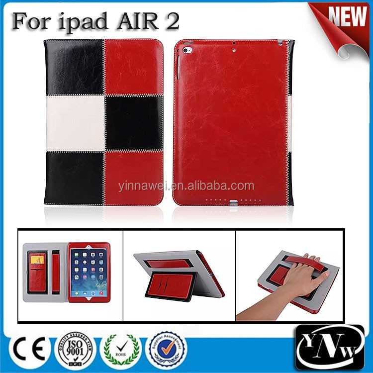 Square Pattern Wallet pu Case for iPad Air, for Ipad 5 Case Cover, Stand Tablet Case for iPad Air 2