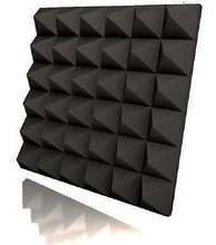 Decorative Sound Proof Polyester Fiber Black Acoustic 3D Panel Wall Isolation Studio Foam Panels