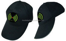 Long solar panel 6 panels Customer design baseball hat/cap with sandwich