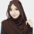 New design chiffon plain Muslim Hijab scarf,long shawls,can choose colors YW05