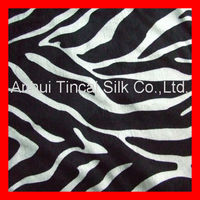 Animal Printed Ef Velboa in Zebra Design