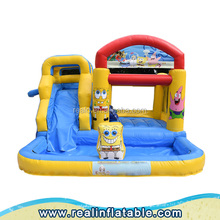 New cheap cartoon bounce house / inflatable bouncy castle / inflatable jumping castles slide combo