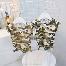 KS10681A Wholesale baby boys casual style camo t shirt cool