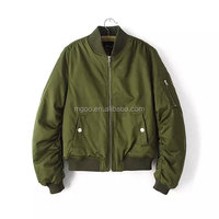 Wholesale Hot Sale Cheap Price Women Green Satin Bomber Jackets Winter Cool Bomber Jackets Zip Up Ladies Coat