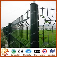 Cheap backyard metal fencing curved metal fencing with different poles