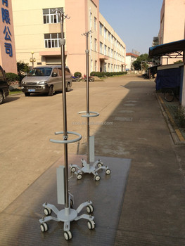 Round Handle Stainless Steel 304 Hospital Drip Stand