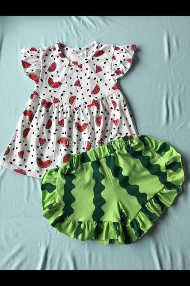 wholesale summer baby girls outfits watermelon shorts persnickety adorable sets boutique baby outfits