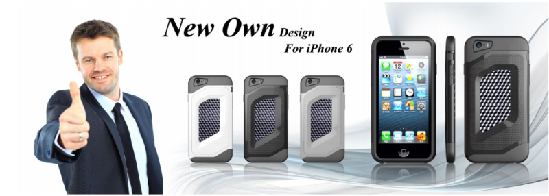 BHD Classic Flip Carbon fiber leather Skin case for iphone 6