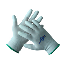 13G Polyester Liner PU Fingertips Coated Anti-static Work Glove for Light Assembly