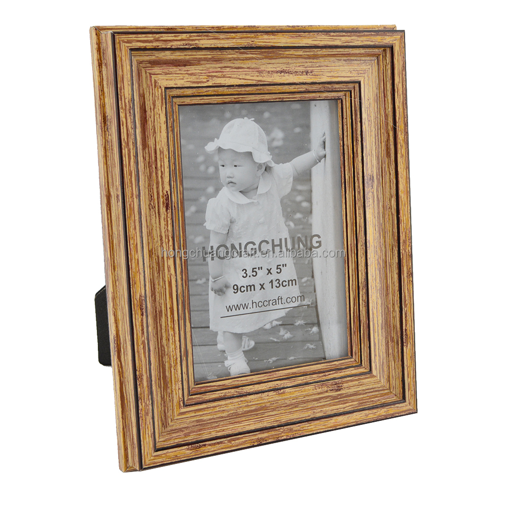 Home Cheap Antique Wooden Looking plastic certificate frame